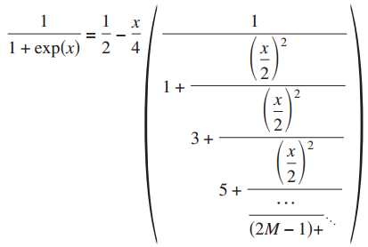 Continued fraction representation